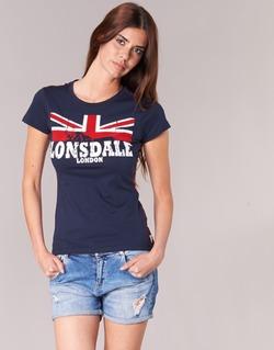 textil Dame T-shirts m. korte ærmer Lonsdale ERYKAH Blå