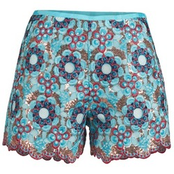 textil Dame Shorts Manoush FRESQUE Blå