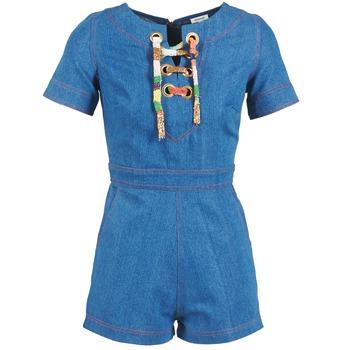 textil Dame Buksedragter / Overalls Manoush LACET Blå / JEANS