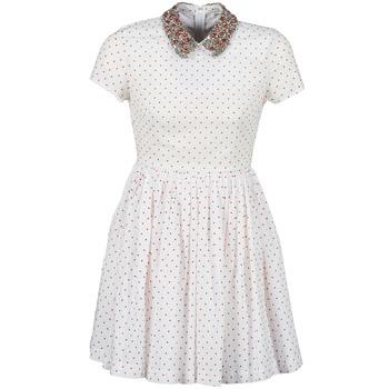 textil Dame Korte kjoler Manoush PLUMETIS STRASS Hvid / Rød