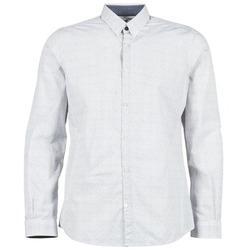 textil Herre Skjorter m. lange ærmer Tom Tailor MARCHALO Hvid / Marineblå