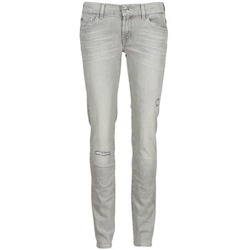textil Dame Smalle jeans 7 for all Mankind ROXANNE DESTROYED Grå