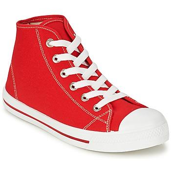 Sko Herre Høje sneakers Yurban WAXI Rød