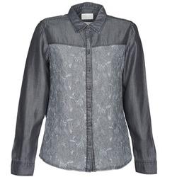 textil Dame Skjorter / Skjortebluser Esprit Denim Blouse Grå