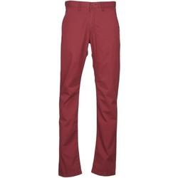 textil Herre Chinos / Gulerodsbukser Lee CHINO OXBLOOD Rød