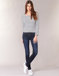 textil Dame Jeans - skinny G-Star Raw LYNN MID SKINNY Blå / Superstretch / Medium / Ældet