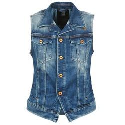 textil Dame Cowboyjakker G-Star Raw 3302 JKT S/LESS WMN Blå / LYS