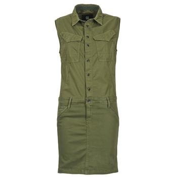 textil Dame Korte kjoler G-Star Raw ROVIC SLIM DRESS WMN S/LESS KAKI