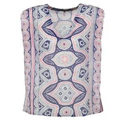 textil Dame Toppe / Bluser Antik Batik JAGGA Blå / Flerfarvet