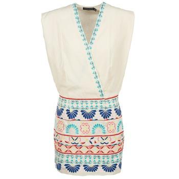 textil Dame Korte kjoler Antik Batik POLIN Hvid / Flerfarvet
