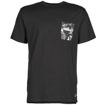 textil Herre T-shirts m. korte ærmer DC Shoes WOODGLEN Sort