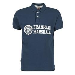 textil Herre Polo-t-shirts m. korte ærmer Franklin & Marshall AYLEN Marineblå
