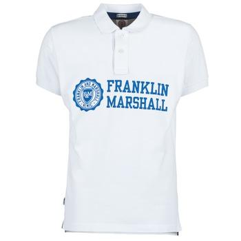 textil Herre Polo-t-shirts m. korte ærmer Franklin & Marshall AYLEN Hvid