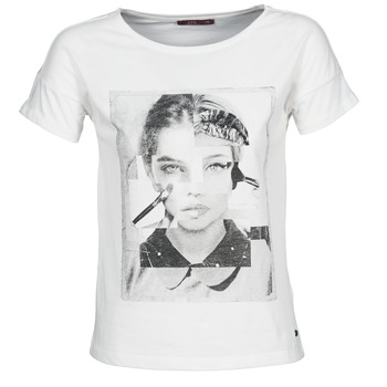 textil Dame T-shirts m. korte ærmer Esprit NEW PRINT SHIRT Hvid