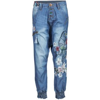 textil Dame Løstsiddende bukser / Haremsbukser Desigual ANIATINE Blå / MEDIUM
