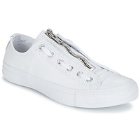 Sko Herre Lave sneakers Converse CHUCK TAYLOR ALL STAR MA-1 ZIP MILITARY LEATHER OX Hvid