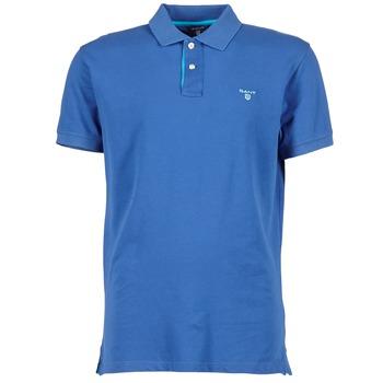 textil Herre Polo-t-shirts m. korte ærmer Gant CONTRAST COLLAR PIQUE Blå
