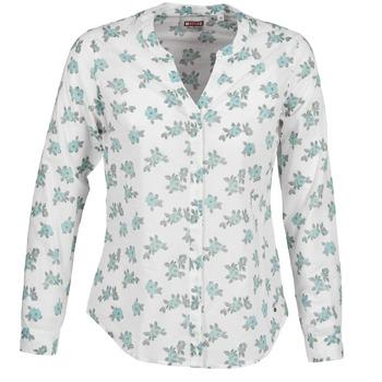 textil Dame Skjorter / Skjortebluser Mustang FLOWER BLOUSE Hvid / Blå