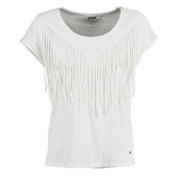 textil Dame T-shirts m. korte ærmer Mustang FRINGE Hvid