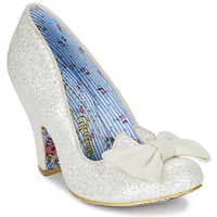 Sko Dame Pumps Irregular Choice NICK OF TIME Hvid / Pailleter