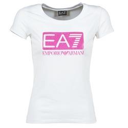textil Dame T-shirts m. korte ærmer Emporio Armani EA7 BEAKON Hvid