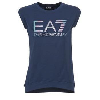 textil Dame T-shirts m. korte ærmer Emporio Armani EA7 ANDROUL Marineblå