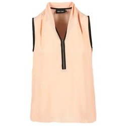 textil Dame Toppe / Bluser Only FIA ZIP Orange / Pastel / Sort