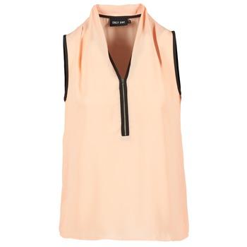 textil Dame Toppe / Bluser Only FIA ZIP Orange / Pastel / Sort