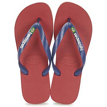 Sko Klipklapper  Havaianas BRASIL LOGO Marineblå / Rød