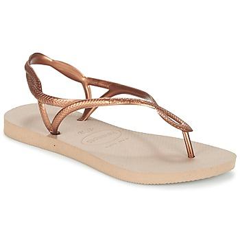 Sko Dame Flip flops Havaianas LUNA Bronze