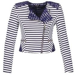 textil Dame Jakker / Blazere Morgan VMEL Marineblå / Hvid