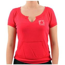 textil Dame T-shirts m. korte ærmer Converse  Pink