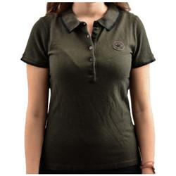 textil Dame Polo-t-shirts m. korte ærmer Converse  Sort