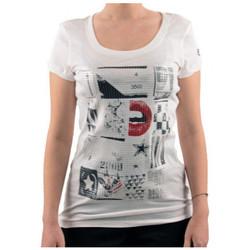 textil Dame T-shirts m. korte ærmer Converse  Hvid