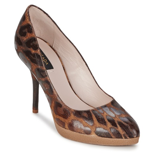 Sko Dame Højhælede sko Escada AS701 Brun / Leopard