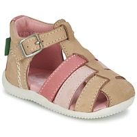 Sko Pige Sandaler Kickers BIGFLY BEIGE / Pink