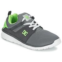 Sko Dreng Lave sneakers DC Shoes HEATHROW Grå / Hvid / Grøn