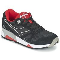 Sko Lave sneakers Diadora N9000 NYLON II Sort / Rød