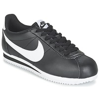Sko Dame Lave sneakers Nike CLASSIC CORTEZ LEATHER W Sort / Hvid