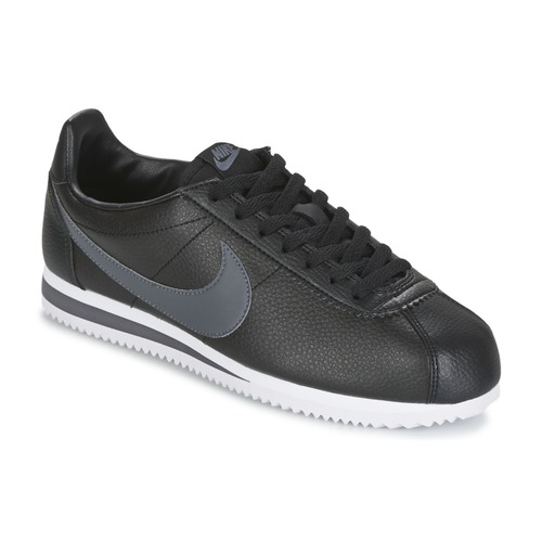 finest selection 2ccb7 fbdc4 Sko Herre Lave sneakers Nike CLASSIC CORTEZ LEATHER Sort  Grå