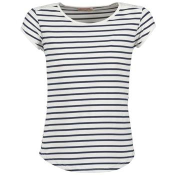 textil Dame T-shirts m. korte ærmer Moony Mood EIYA Hvid / Blå
