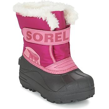 Sko Børn Vinterstøvler Sorel CHILDRENS SNOW COMMANDER Pink