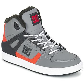 Sko Børn Høje sneakers DC Shoes REBOUND WNT B SHOE XSKN Grå / Sort / Orange