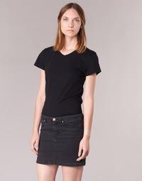 textil Dame T-shirts m. korte ærmer BOTD EFLOMU Sort
