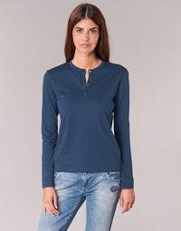 textil Dame Langærmede T-shirts BOTD EBISCOL Marineblå