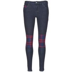 textil Dame Smalle jeans American Retro LOU Blå