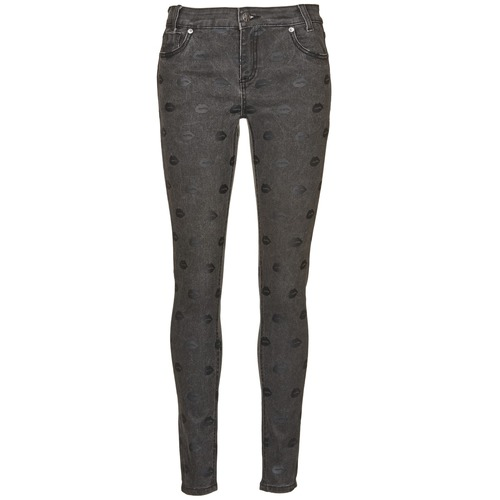textil Dame Smalle jeans American Retro HELENA Grå