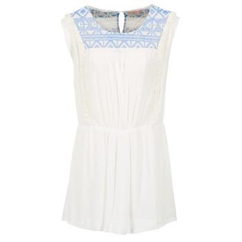 textil Dame Korte kjoler Moony Mood EBENE Hvid