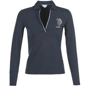 textil Dame Polo-t-shirts m. lange ærmer U.S Polo Assn. CRISTINE Marineblå