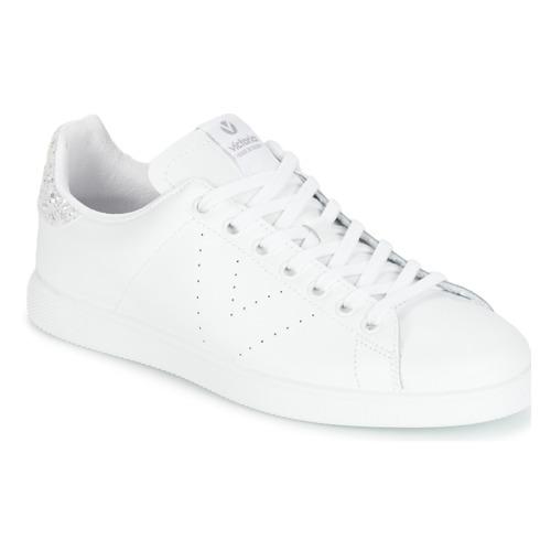 Sko Dame Lave sneakers Victoria DEPORTIVO BASKET PIEL Hvid / Sølv